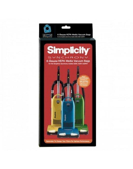 SIMPLICITY N HEPA Bags, 6 pack