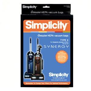 SIMPLICITY X HEPA Bags, 6 pk