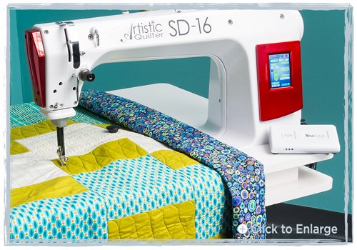 JANOME AQSD16  Long Arm Sit-Down Quilter with Table