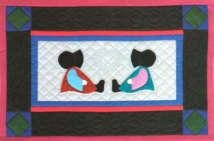 K hand quilting and applique