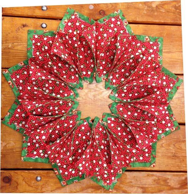 Fold N Stitch Wreath Classy Fold And Stitch Wreath Pattern