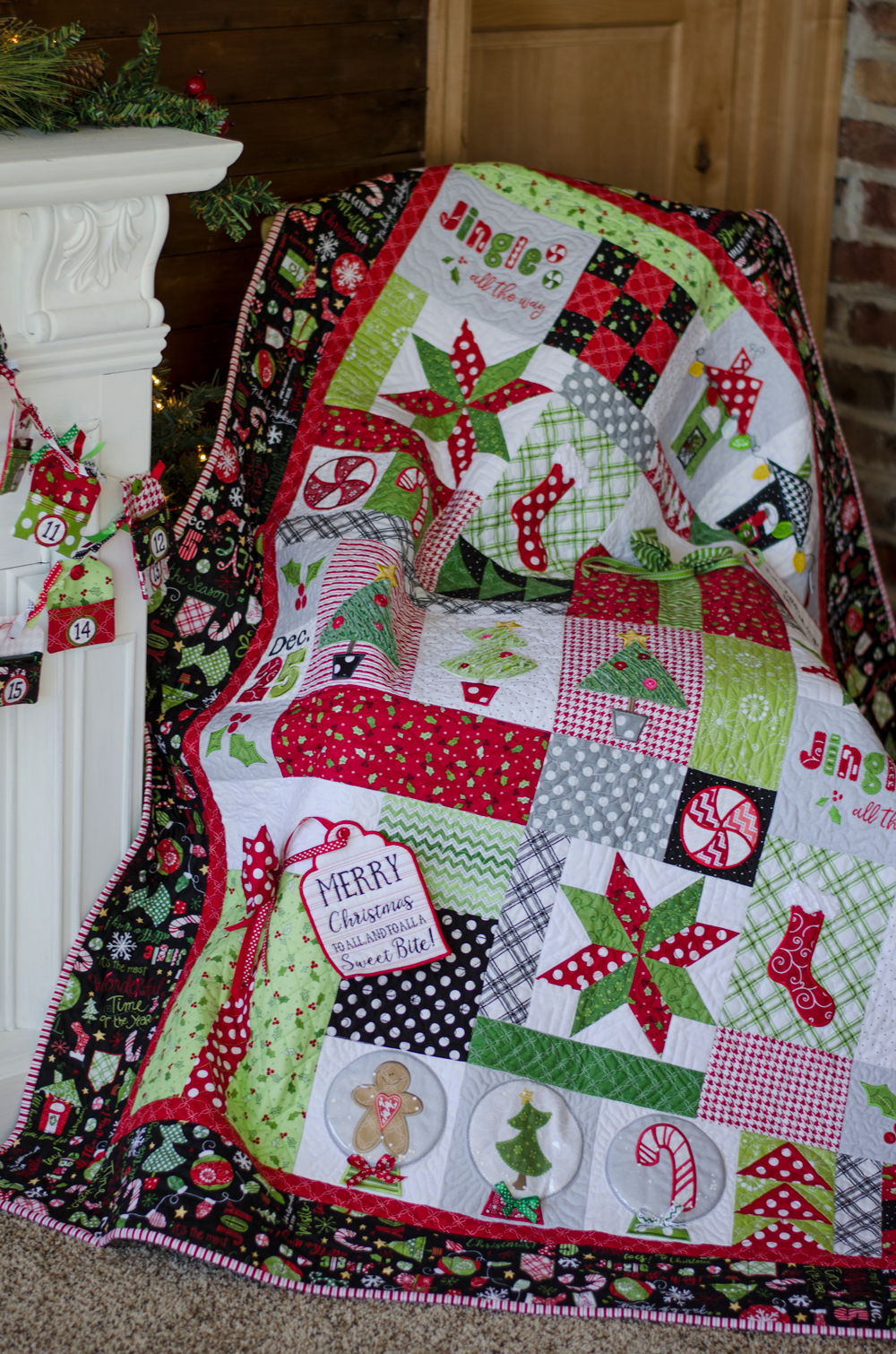 Jingle All The Way Block Of The Month Quilt