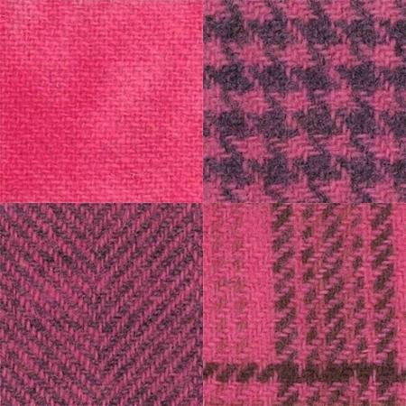 Wool Fat Quarter Pink Posie Assorted