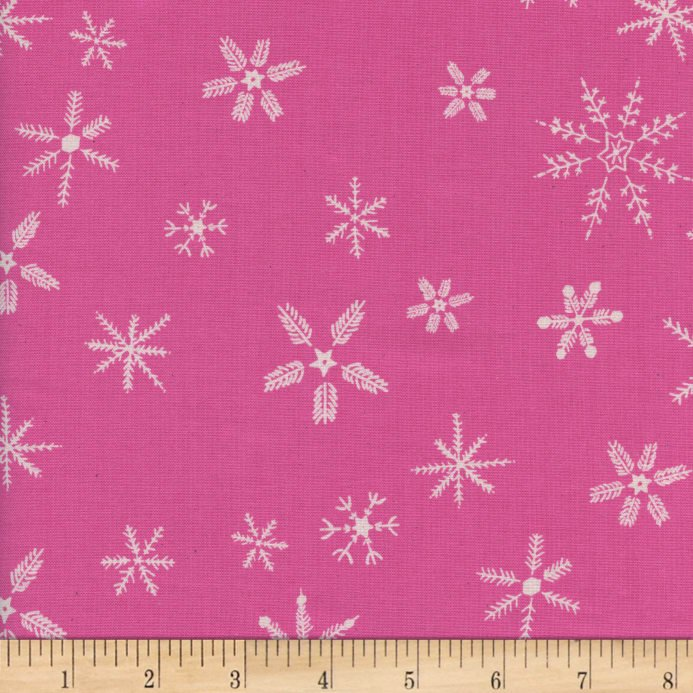 Flurry in Pink - Frost - Cotton + Steel