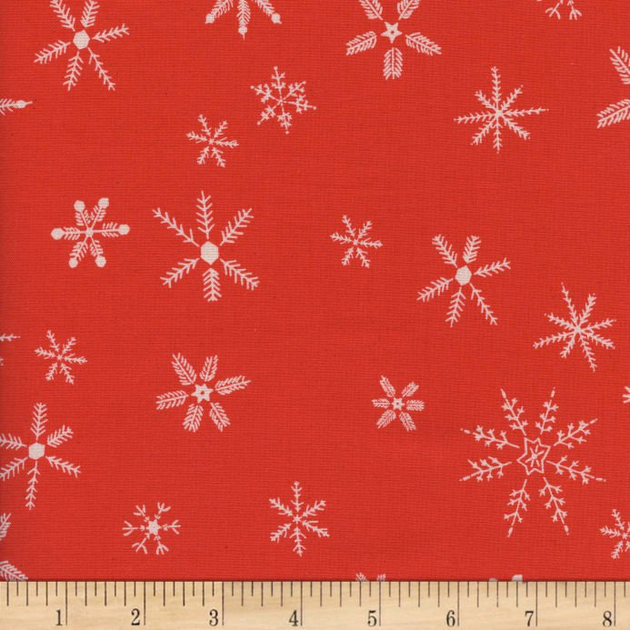Flurry in Red - Frost - Cotton + Steel