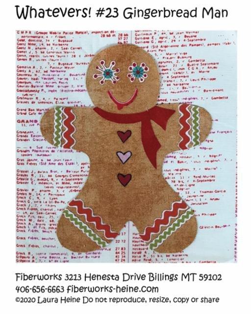 Gingerbread Man - Fiberworks Patterns - Laura Heine