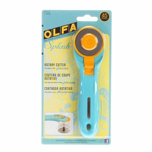 Olfa Splash 45 mm Rotary Cutter - Aqua