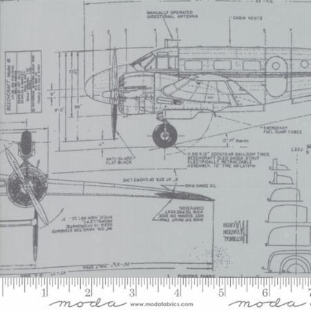 Aircraft in Zen Grey - More Paper - Zen Chic