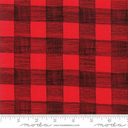 Rustic Gingham in Red Rooster - Farm Fresh - Gingiber