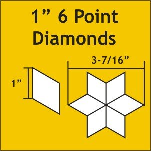 1 6 Point Diamonds: Small Pack 75 pieces