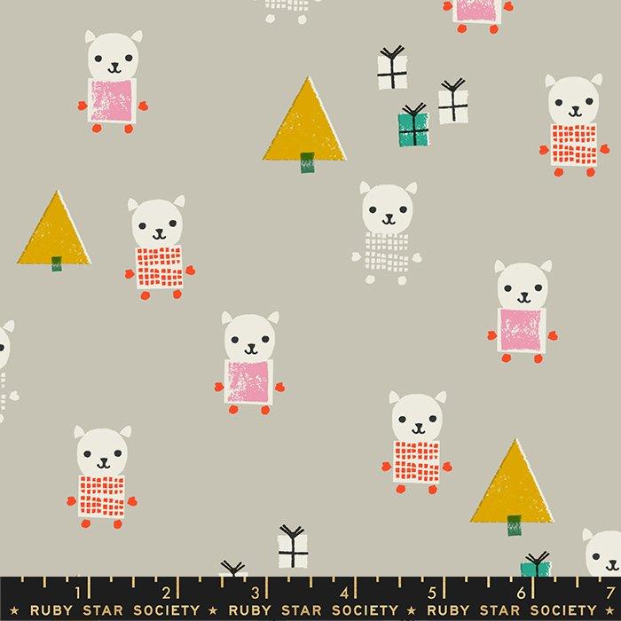 Meowy Christmas: Wool - Flurry - Kimberly Kight - Ruby Star Society - PRECUT 1 YD