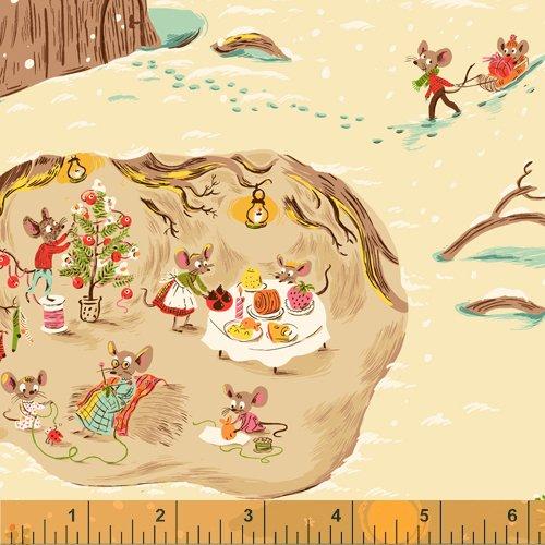 Christmas Mice in Cream - Sugar Plum - Heather Ross