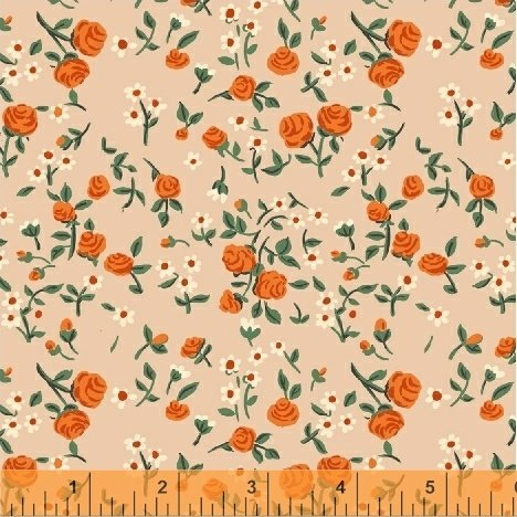 Mousies Floral: Peach - Trixie - Heather Ross