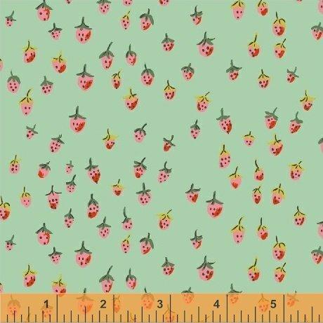 Field Strawberries: Aqua - Trixie - Heather Ross