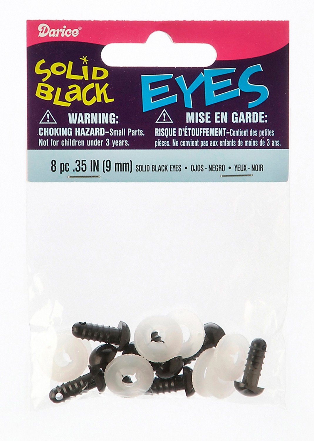 Animal Eyes - 15mm black