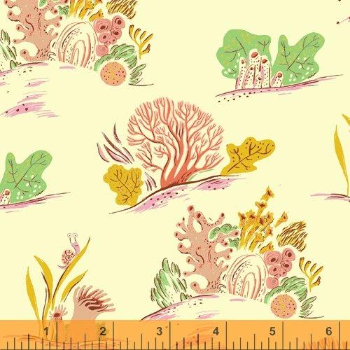 Coral in Minty - Malibu - Heather Ross - Windham Fabrics