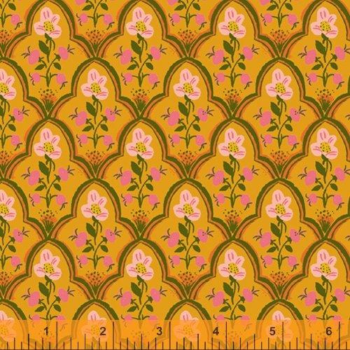 Wood Block in Olive - Malibu - Heather Ross - Windham Fabrics