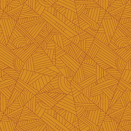 Lines in Butterscotch - Mosaic - Shannon Brinkley