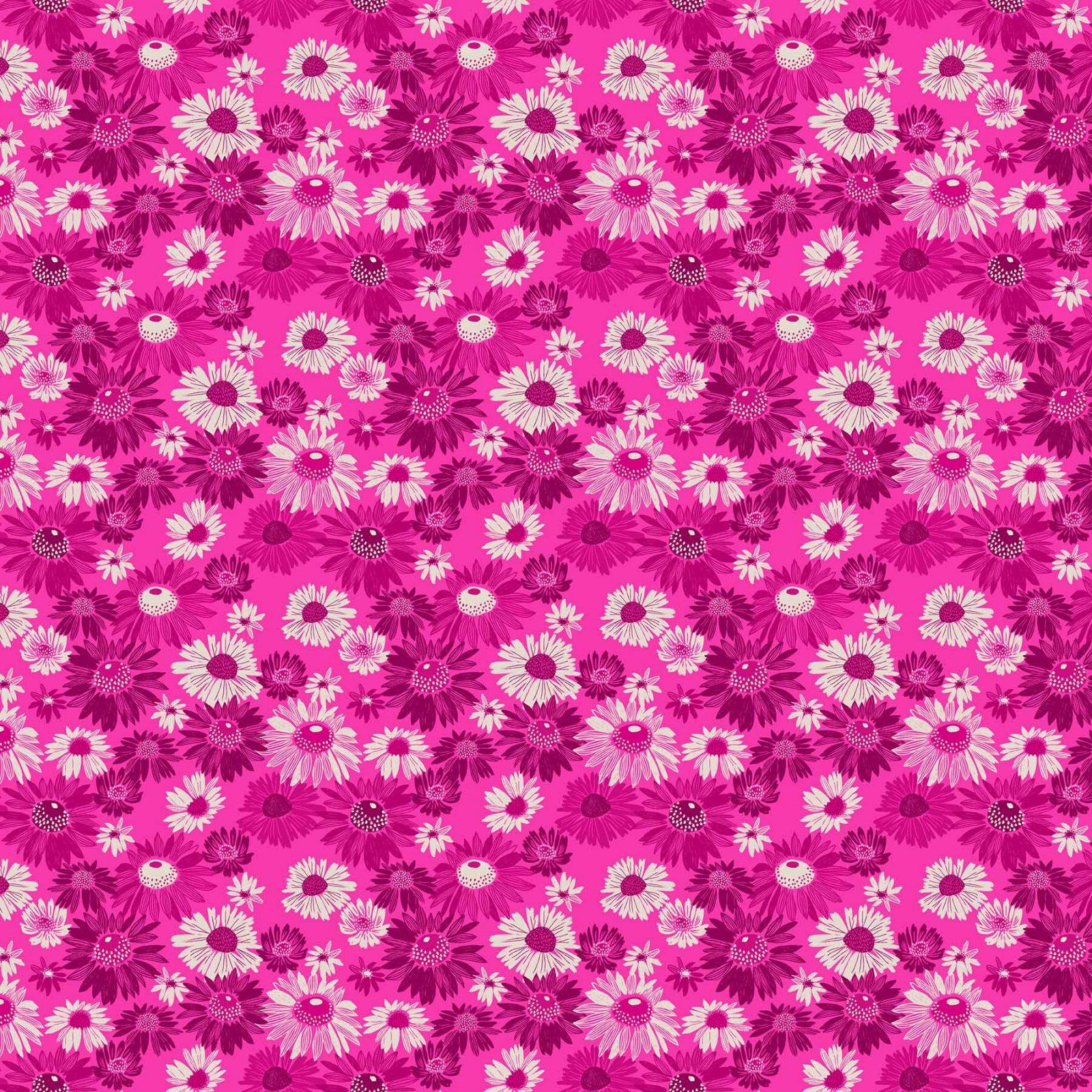 Blooms: Magenta - Flora - Figo Fabrics