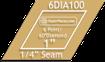 Acrylic Template: 1 6 Point Diamond with 1/4 Seam Allowance