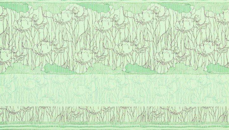 Tree Stripe Pistachio - Friedlander - Carolyn Friedlander