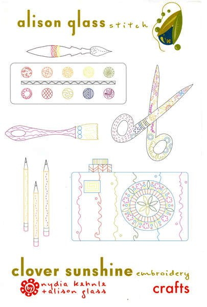 Alison Glass Stitch Embroidery Pattern - Crafts