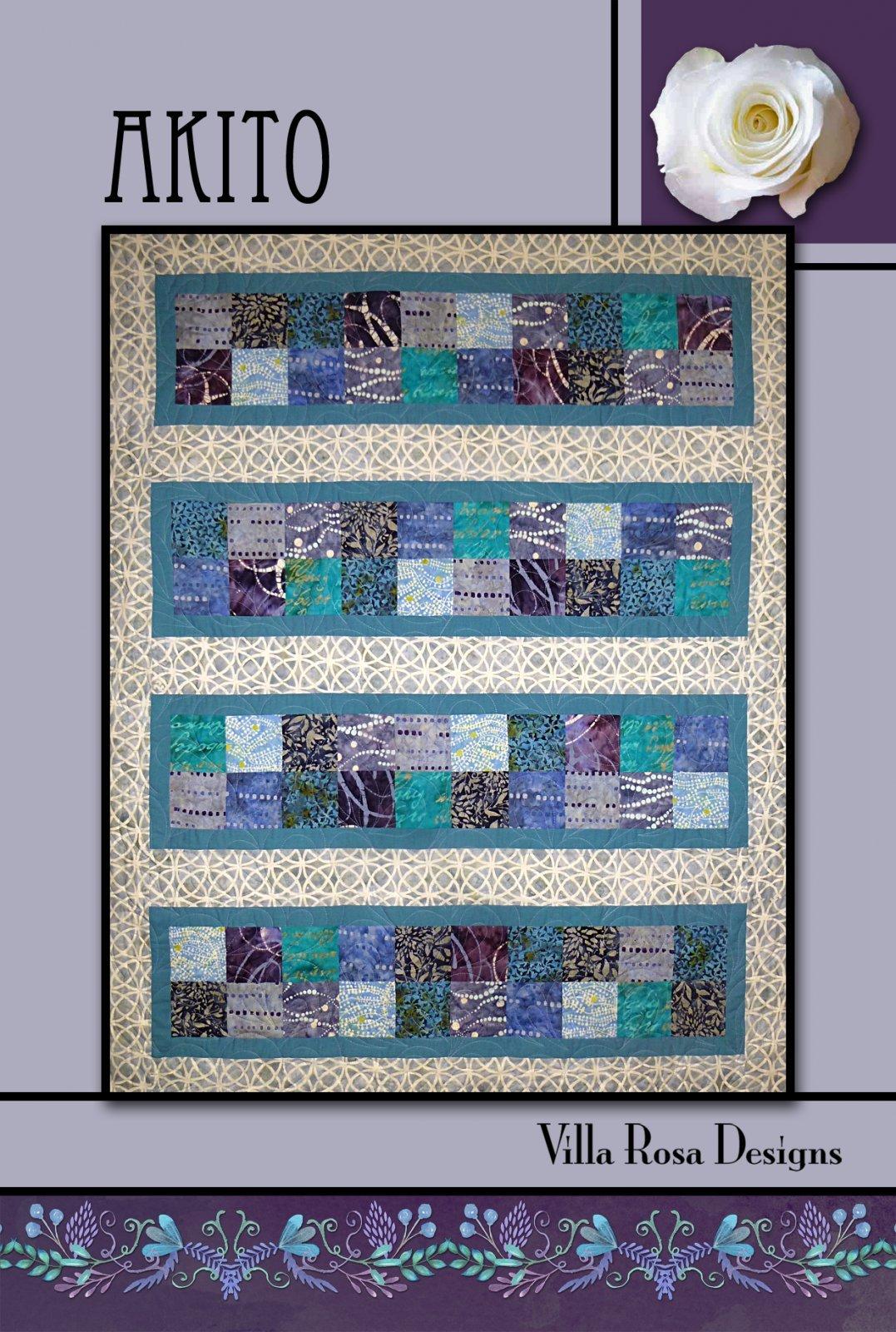 Akito Quilt Pattern - Villa Rosa Designs