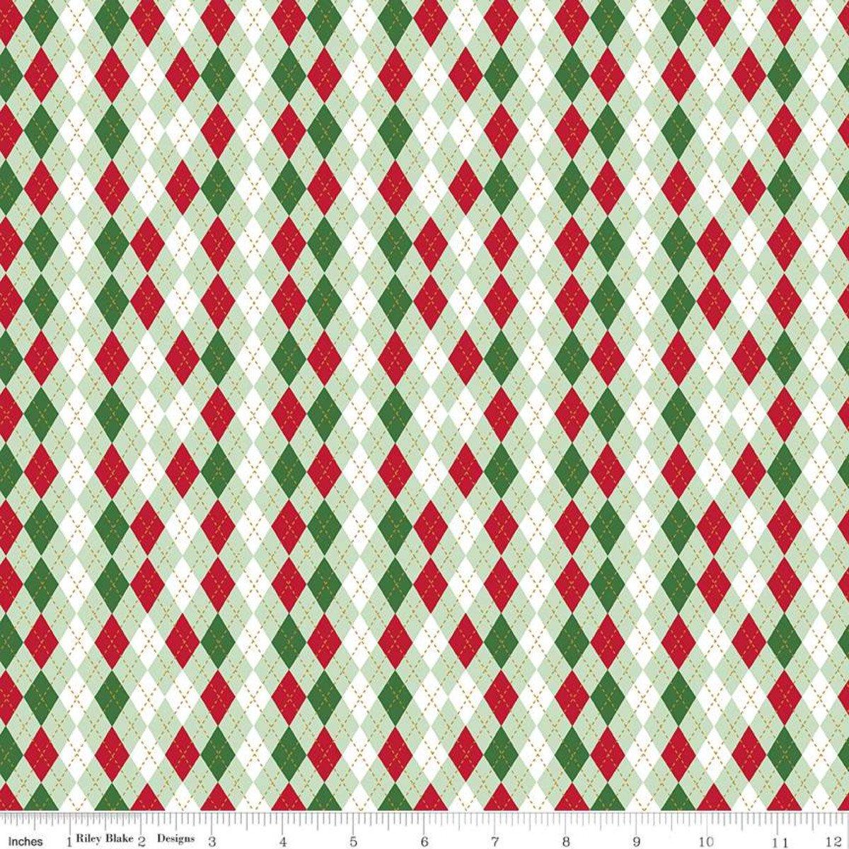 Argyle: Sweetmint - Christmas Adventure - Beverly McCullough -  Riley Blake Designs