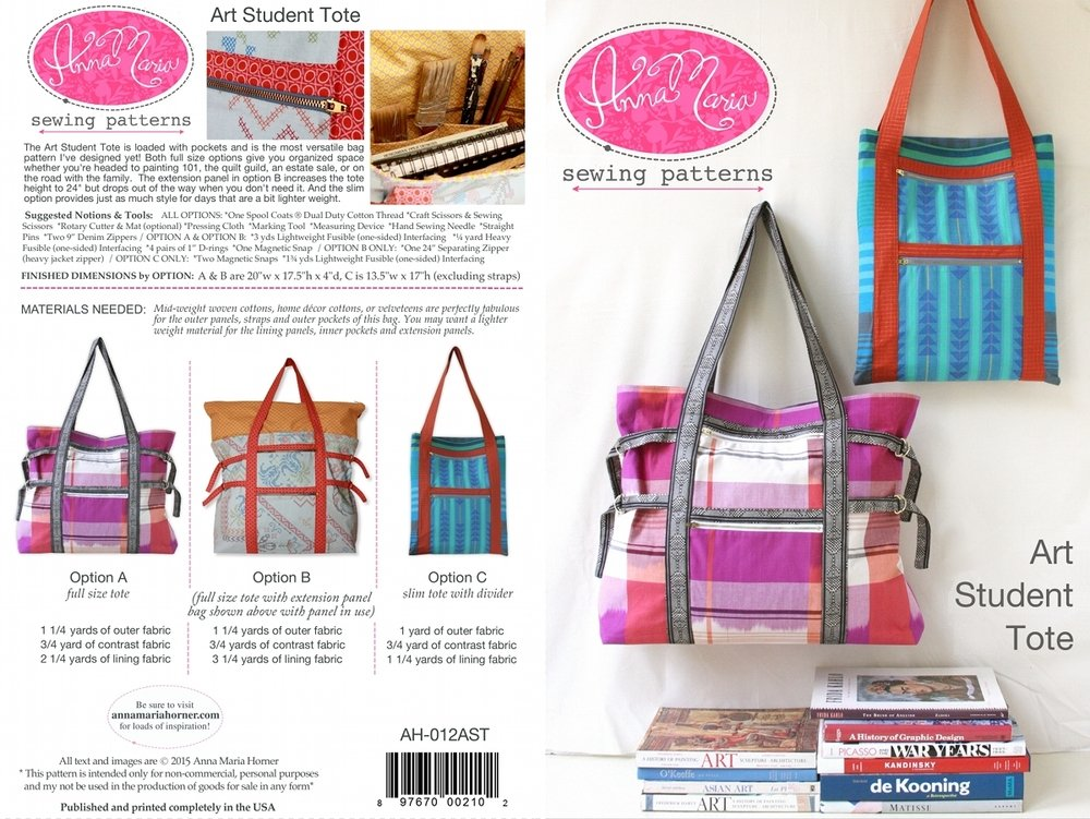 Art Student Tote Pattern by Anna Maria Horner