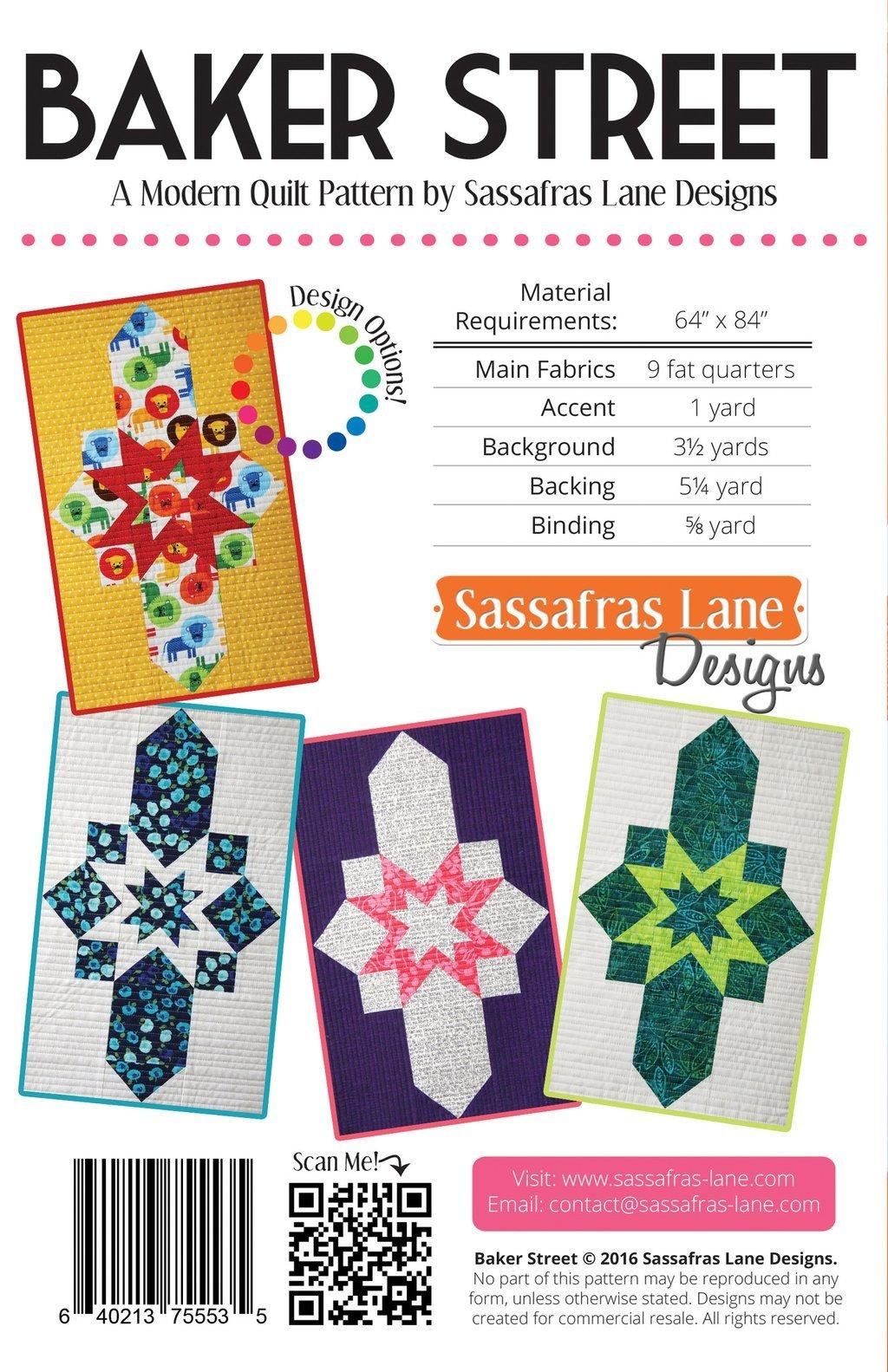 Baker Street Quilt Pattern by Sassafras Lane Designs