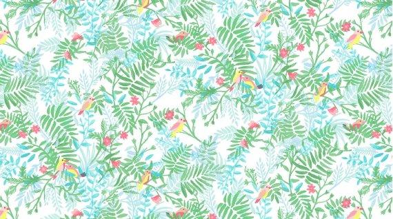 Bird Paradise Multi - Tropic Like It's Hot - Dear Stella Designs