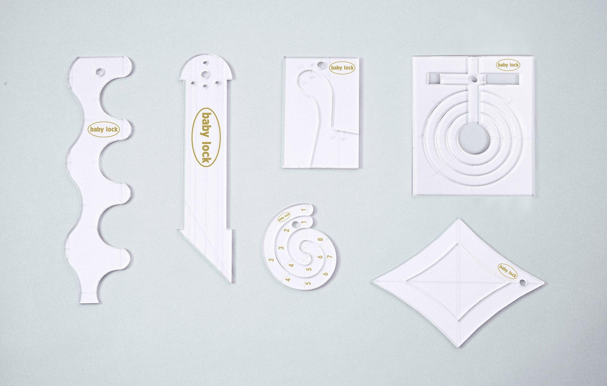 1/4 Acrylic Ruler Set - High Shank & Longarm