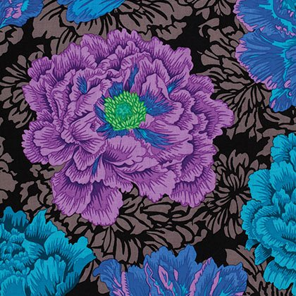 Brocade Peony Blue - Spring 2013 - Philip Jacobs