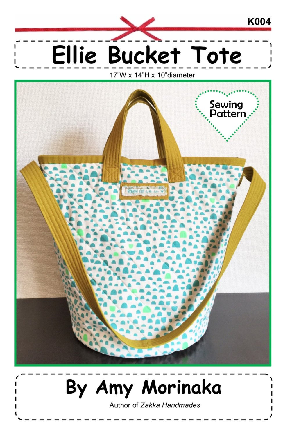 Ellie Bucket Tote Pattern by Amy Morinaka