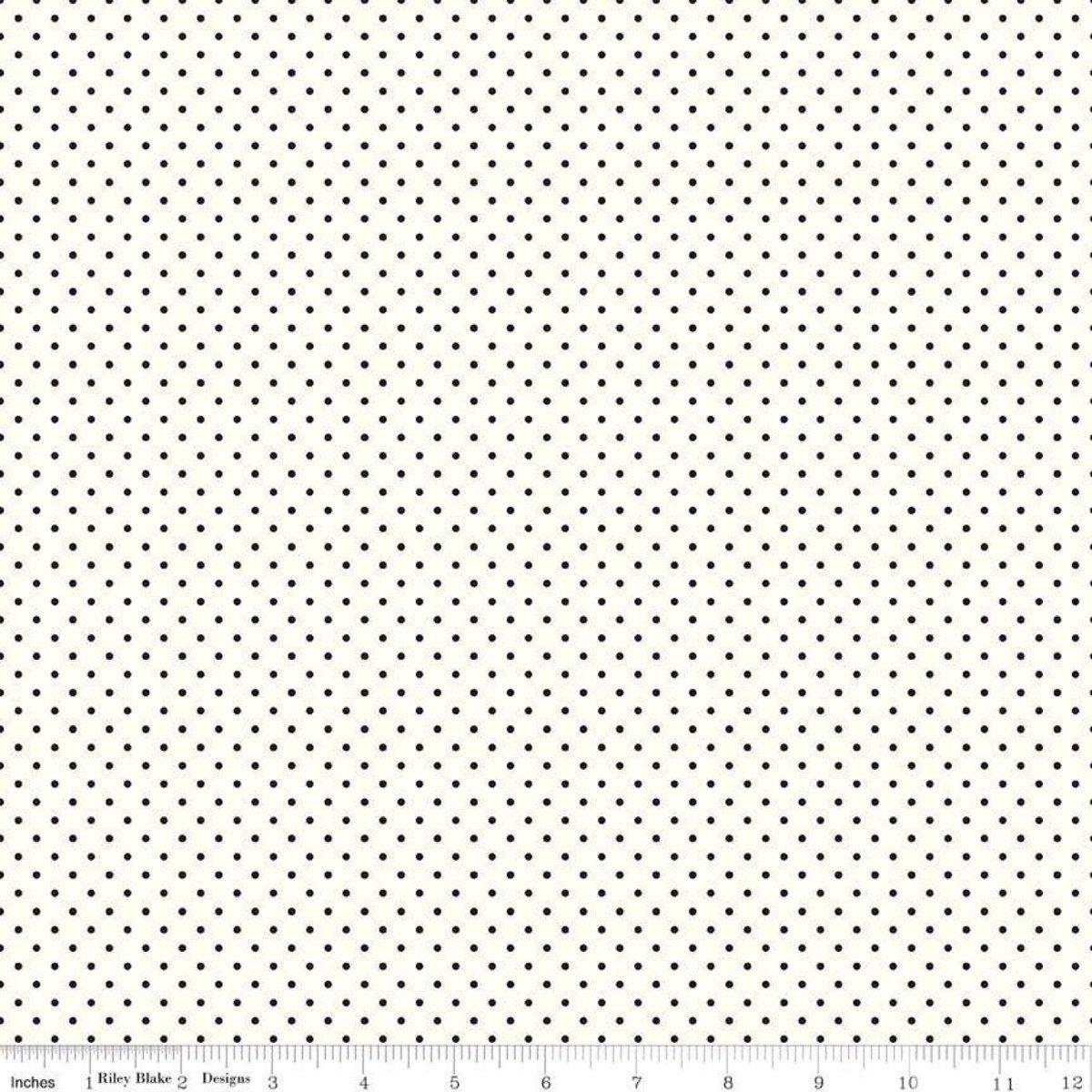 Swiss Dot: Black on White