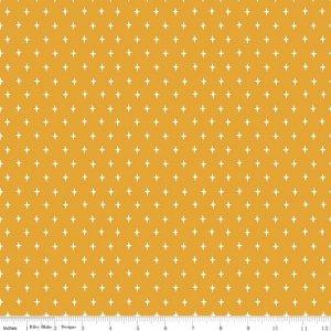 Stars in Mustard - Lancelot - Citrus & Mint - Riley Blake
