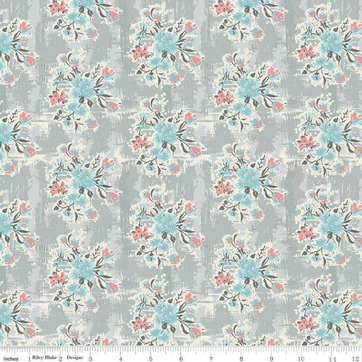 Floral in Gray - Abbie - Sue Daley Designs