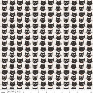 Cats in Cream - Cats, Bats, and Jacks - Riley Blake