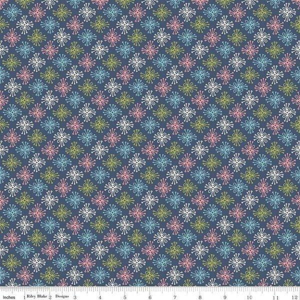 Star Flower: Navy - Sew Retro - Sara Davies