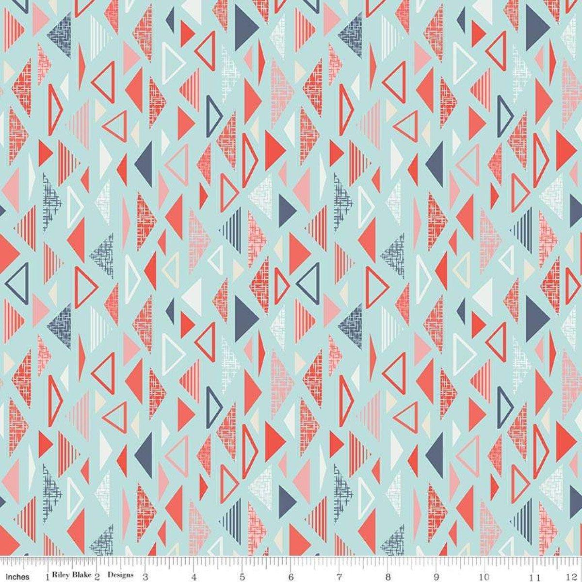Triangles: Blue - Sew Retro - Sara Davies