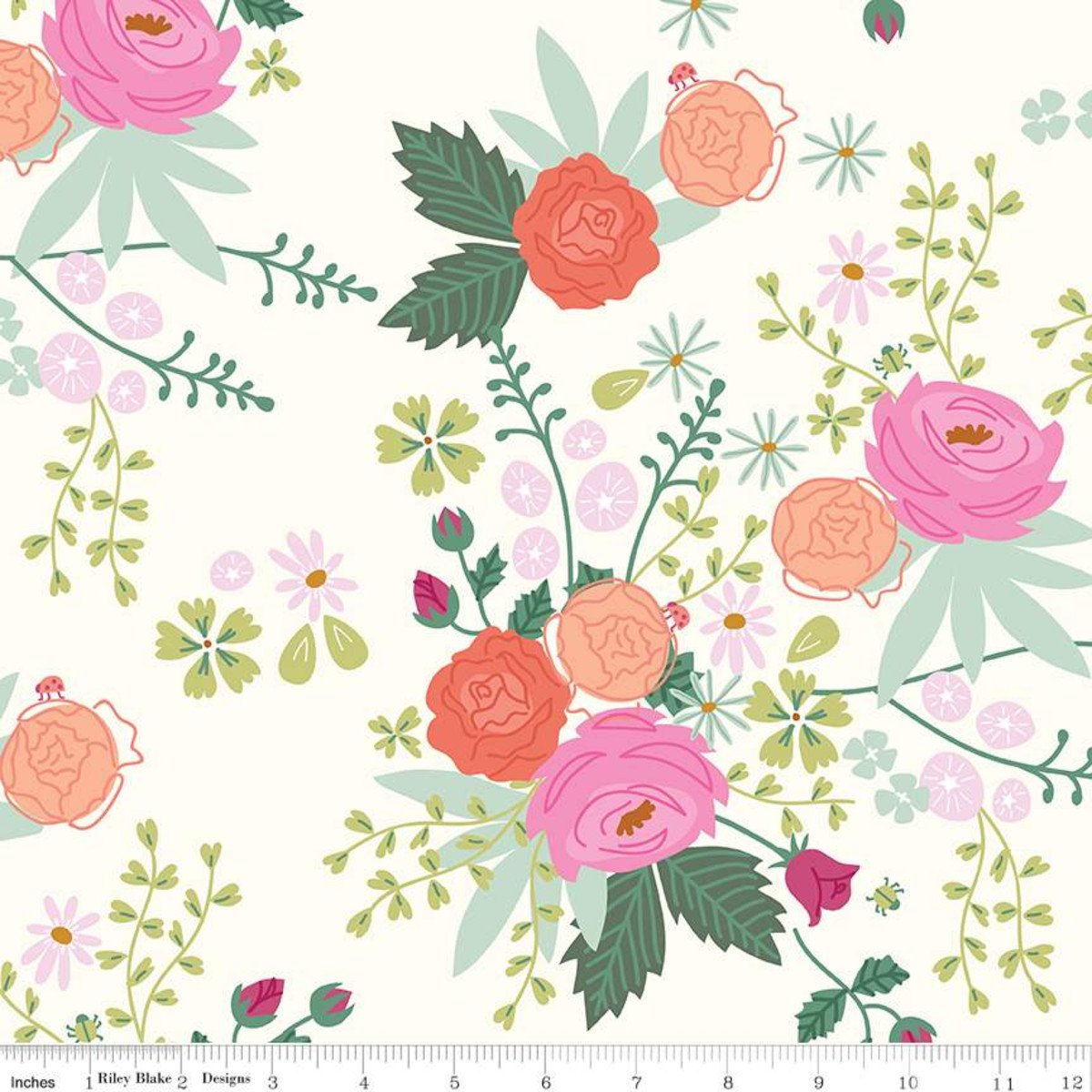 New Dawn Main: Cream - New Dawn - Citrus & Mint Designs - Riley Blake Designs