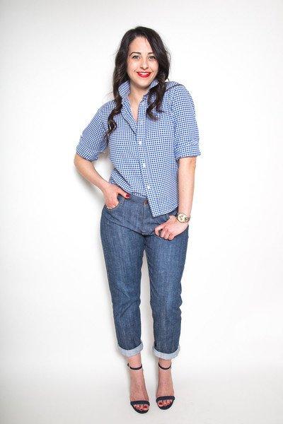 Morgan Boyfriend Jeans Pattern by Closet Case Files