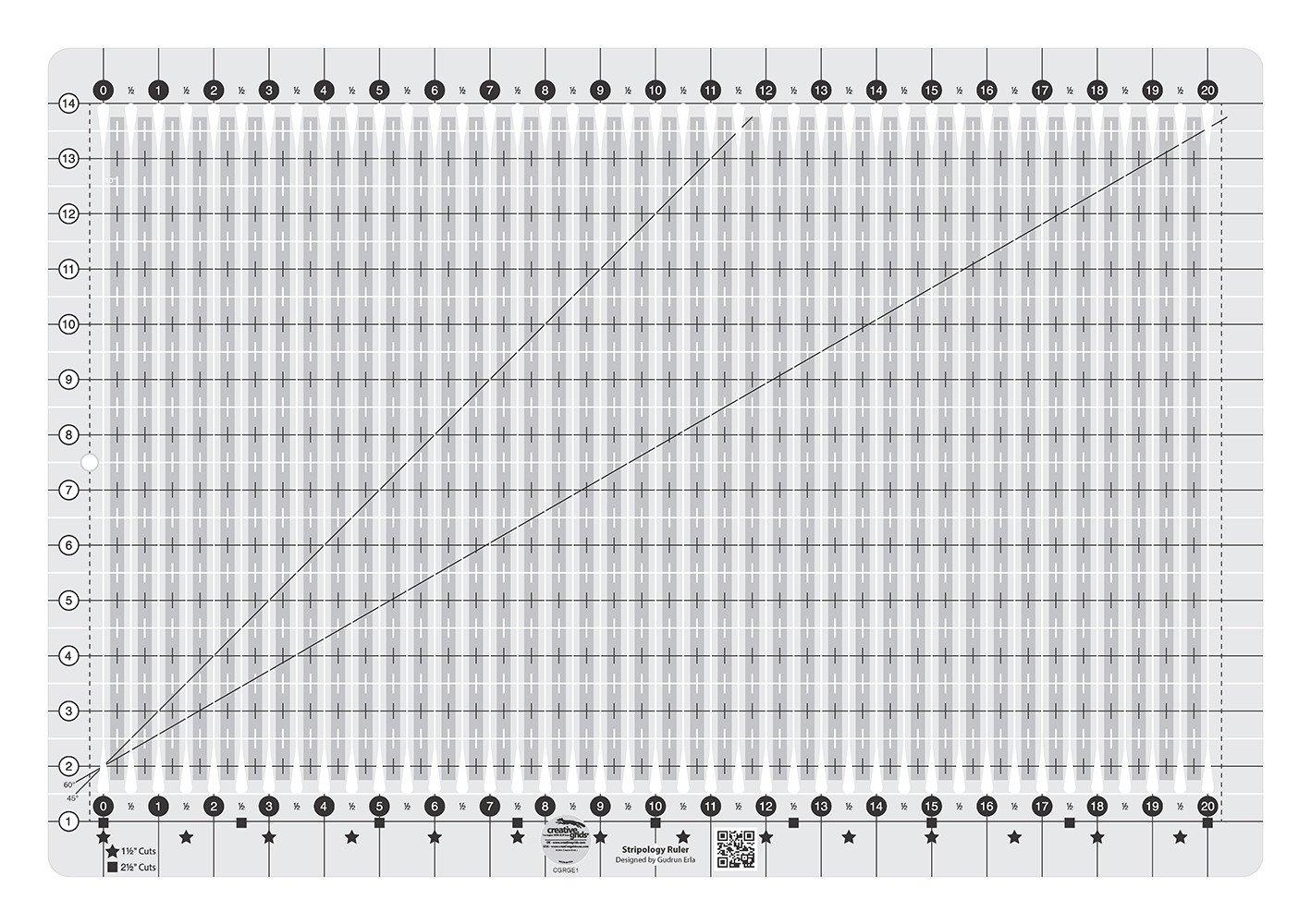 Creative Grids Stripology Ruler XL