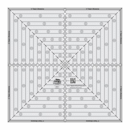Creative Grids 14.5 Square It Up or Fussy Cut Square Quilt Ruler