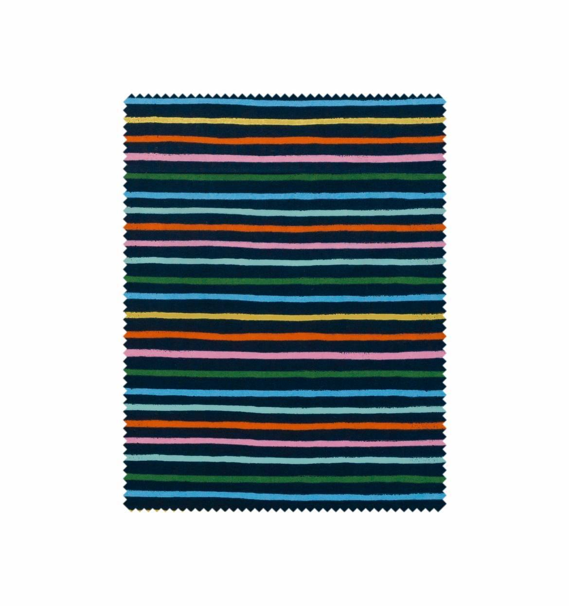 Happy Stripes Lawn in Navy - Amalfi - Rifle Paper Co.