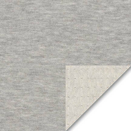 Grey Herringbone Heather Knit - Robert Kaufman