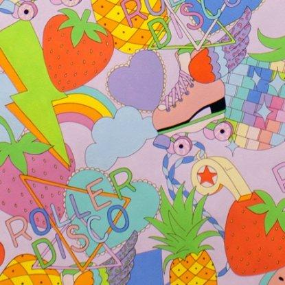 Roller Disco Pink Multi - Alexander Henry