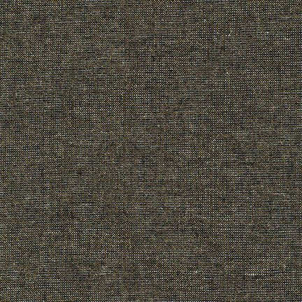 Black - Essex Yarn Dyed Metallic - Robert Kaufman House Designer