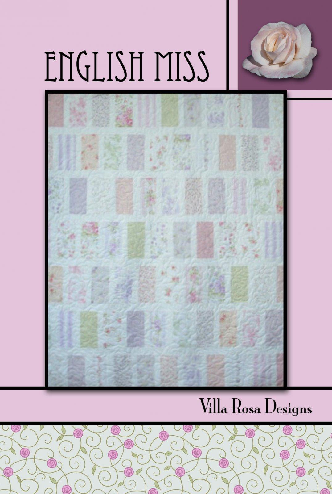 English Miss Quilt Pattern - Villa Rosa Designs