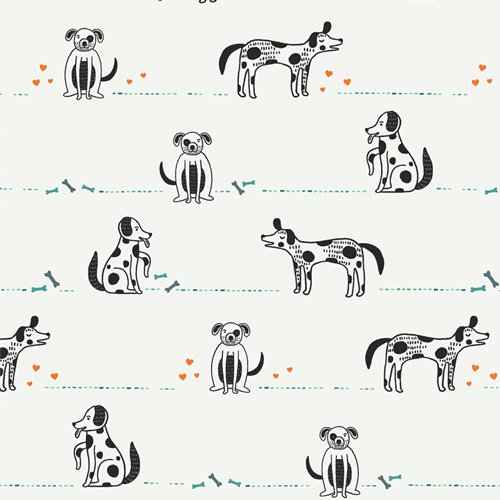 Good Pup - Oh, Woof! - Jessica Swift - Art Gallery Fabrics